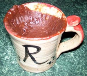 More sunken chocolate cake.