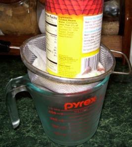 Draining the liquid