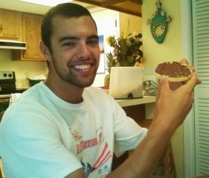 broski and nutella waffle